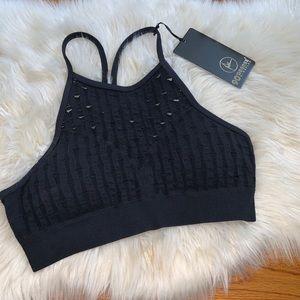 90 degree by reflex black sports bra size xl NWT